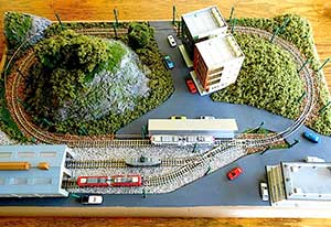 Jrm an easy to build small n scale tram or light rail layout - N scale train layouts small spaces paint ...